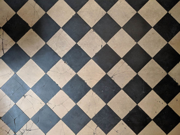 full frame shot of tiled floor Architecture Backgrounds Checked Pattern Clean Close-up Design Flooring Full Frame Geometric Shape High Angle View Indoors  No People Pattern Repetition Shape Textile Textured  Tile Tiled Floor Wall - Building Feature White Color
