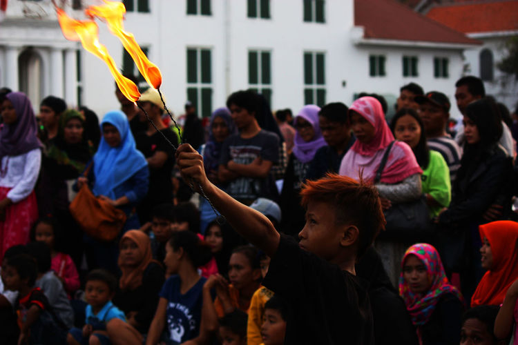 Artist Arts Culture And Entertainment Crowd Fire Fireshow Firetrick Kids Streetphotography