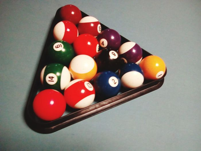 Pool Ball Sport Table Triangle Shape No People Multi Colored Leisure Games Pool Table Indoors  Pool - Cue Sport Close-up Snooker Ball Snooker Day Pool Cue sports bar balls