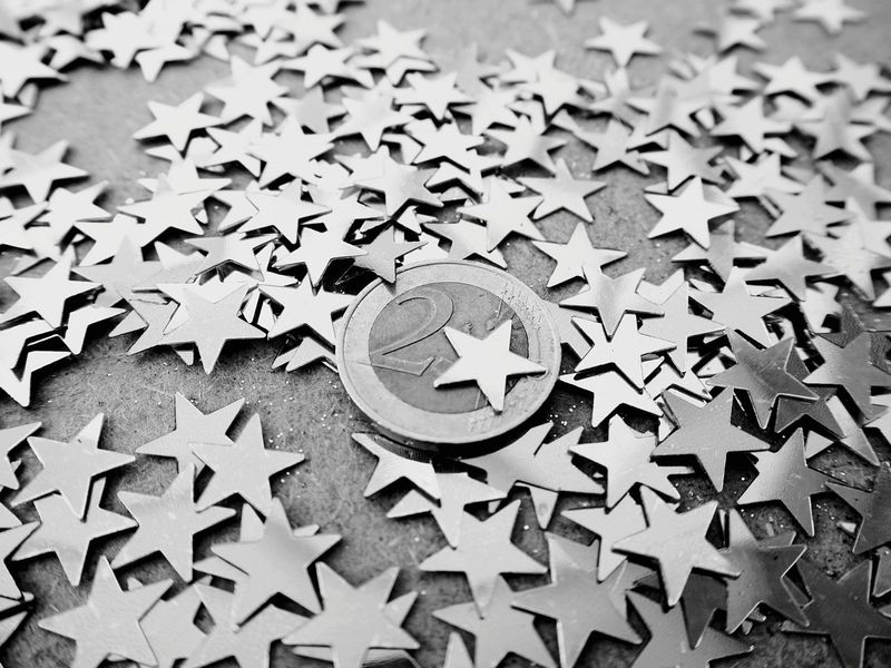 Easy Money Shiny Surfaces The Week On EyeEm Money Money Money Money Coins Star Finances Lifestyle Golden Stars Golden Star Stars Business Finance And Industry Euro Euro Coins Blackandwhite Photography Monochrome Photography Number 2 2 Euro 2 Euro Coin Black And White Friday Be. Ready.
