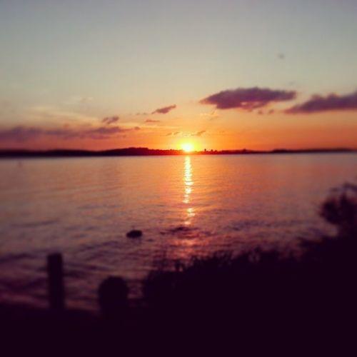 O pôr do sol na Proa é demais...