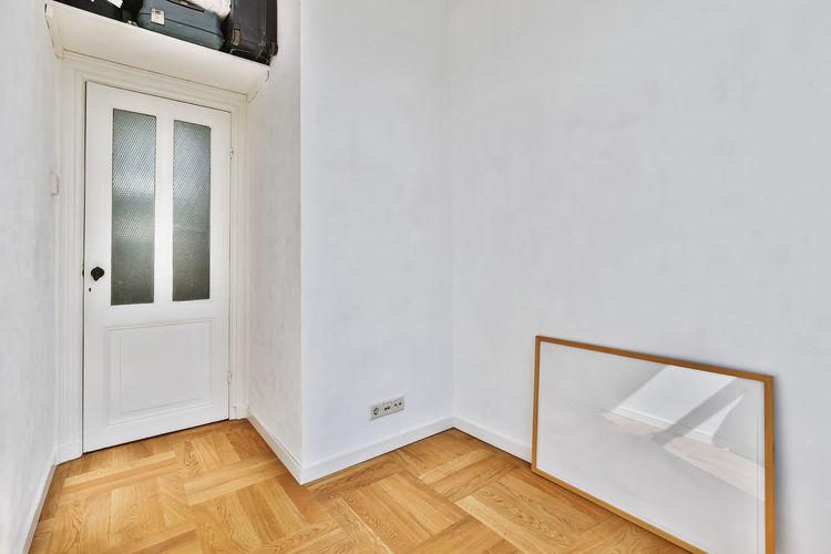 White wooden door of building
