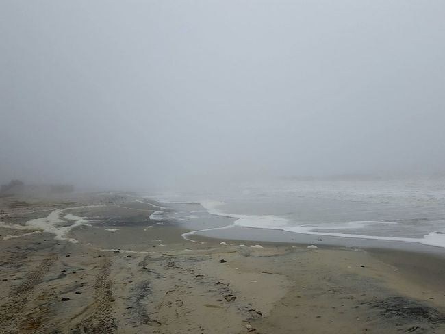 Beach Beauty In Nature Day Fog Holdenbeach Horizon Over Water Landscape Nature No People Outdoors Sand Scenics Sea Sky Tranquil Scene Tranquility Water Wave