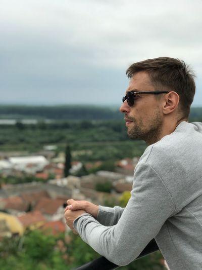Man overlooking