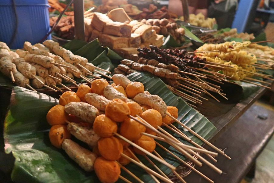 Skewer Skewers Abundance Angkringan Basket Business Choice Close-up Food Food And Drink For Sale Freshness Healthy Eating Large Group Of Objects Market Market Stall No People Retail  Retail Display Sale Satay Satay With Bamboo Stick Skewer Skewered Food Wellbeing