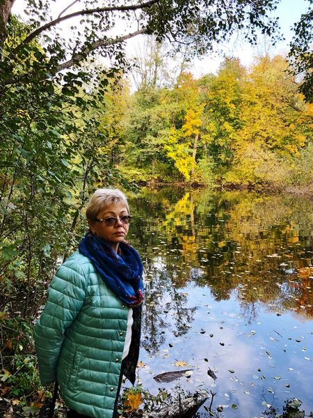 Gold autumn, золотая осень Goldautumn EyeEm Selects Water One Person Senior Adult Leisure Activity Nature Lifestyles Real People Lake Day Outdoors EyeEmNewHere A New Beginning