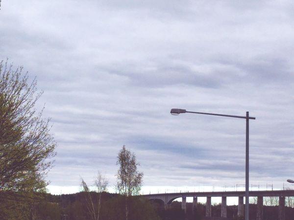 S1 Long Bridge Bridge Railroadbridge Horizon Streetlight Cloudy Sky Cloudy Day S1 Filter