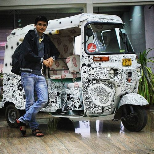 Standing next to an exhibit of the beautiful Rajasthani Auto Art, at the Sanganeer Airport, Jaipur. Jaipurairport 21Nov FuglyAF CantPose AutoBotsWithTats DamnNeegrumIlookBlack Falana Dhimkana Unnecessaryhashtags Cantthinkofanymorehashtags Kbye