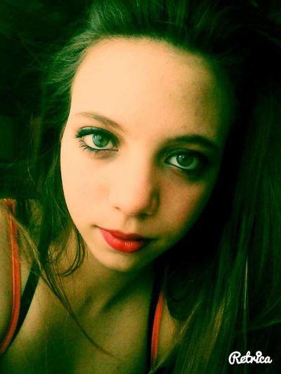 Beauty Close-up Headshot Human Face Long Hair Portrait Red Lips Young Women