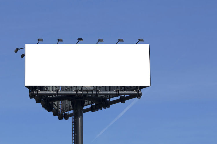 Blank billboard for free advertising Built Structure No People Architecture Blank Copy Space White Color Day Outdoors Advertising Advertisement Poster Mockup Mock Up Billboard