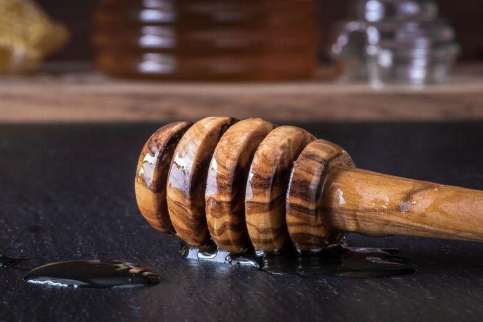 honey wand Close-up Dipper Food Honey Kitchen No People Sweetener Tool Utensil Wand Wood