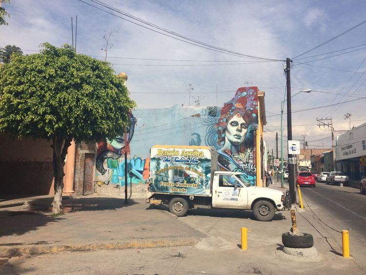 Car City Day Graffiti Leon Guanajuato Mexico No People Outdoors Sky Street Art Tree Adapted To The City