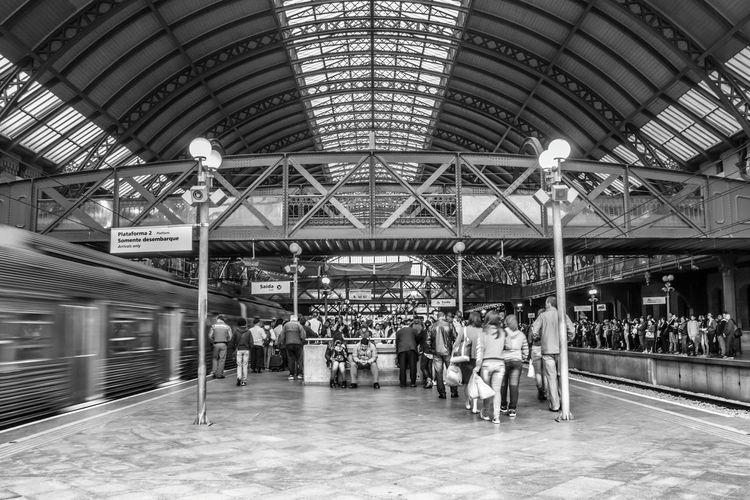 Estação Da Luz São Paulo Train Station Public Transportation Transporte Público Commuting Estação De Trem
