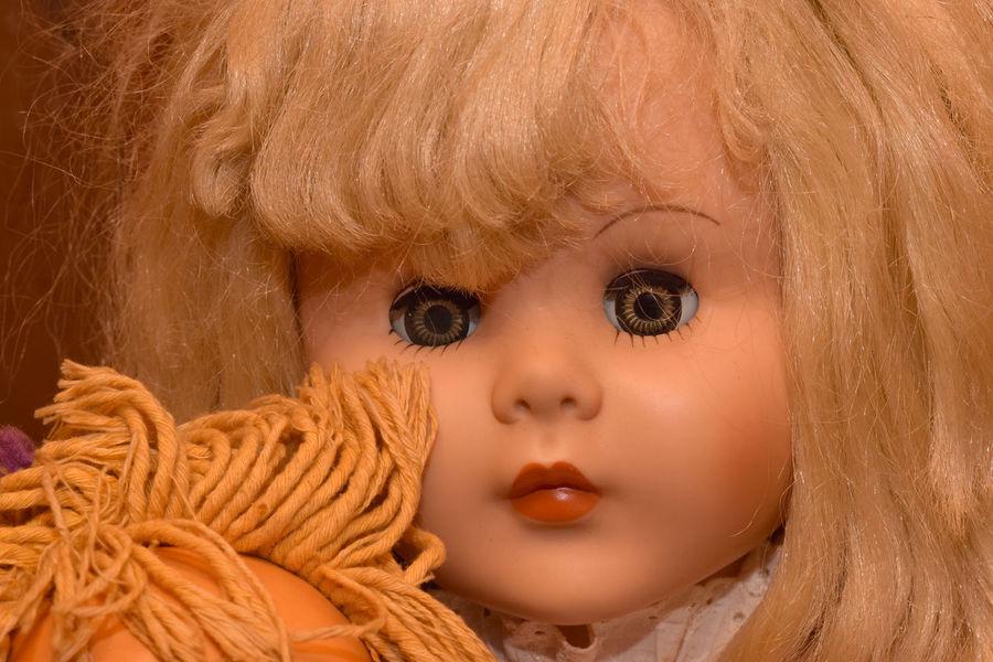 Vintage Dolls with Creepy Glass Eyes Doll, Halloween Horror Retro Closeup Creepy Eyes Face Glass Haunt Portrait Scary Terror Vintage