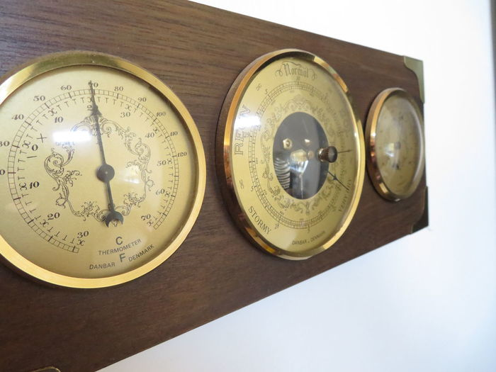 Indoors  Barometer Gold Brown White Background Shapes Circle