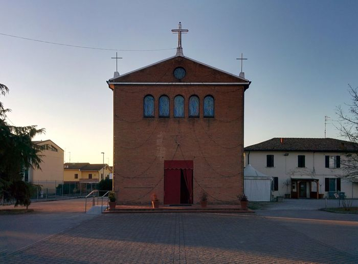 Architecture Bologna Building Exterior Built Structure Curch Day Emilia Romagna Ferrara Ghirri Oriented No People Outdoors Sky Sunset_collection Vigarano Mainarda