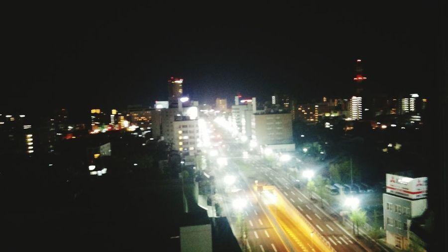 Night Illuminated City Street