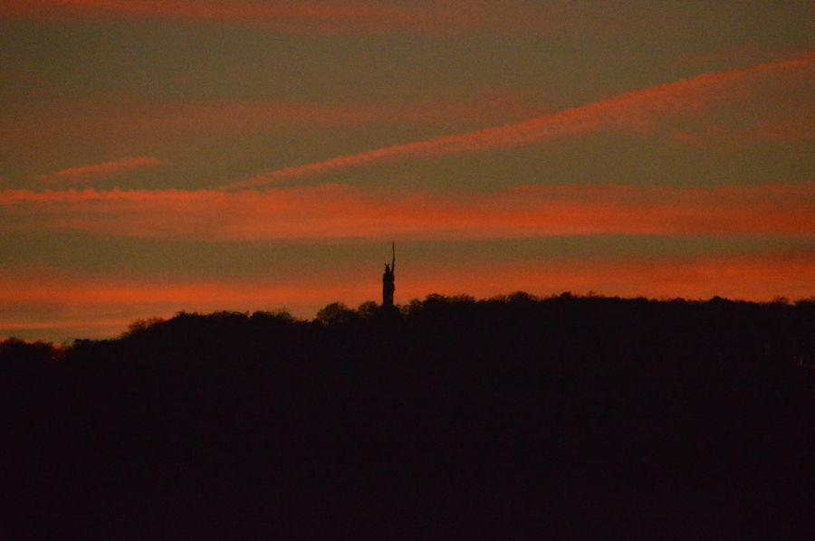 Germania Hermannsdenkmal Monument Red Sundown Sunset
