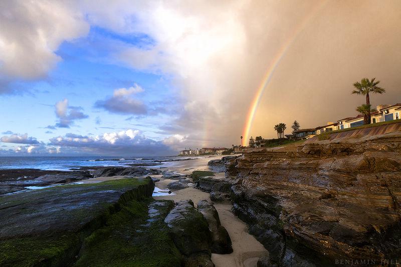 Beach Photography Rainbow Sky California Coast Beautiful