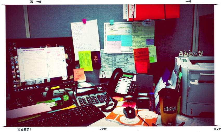 """if a cluttered desk is a sign of a cluttered mind, of what, then, is an empty desk a sign of?"" Albert Einstein"