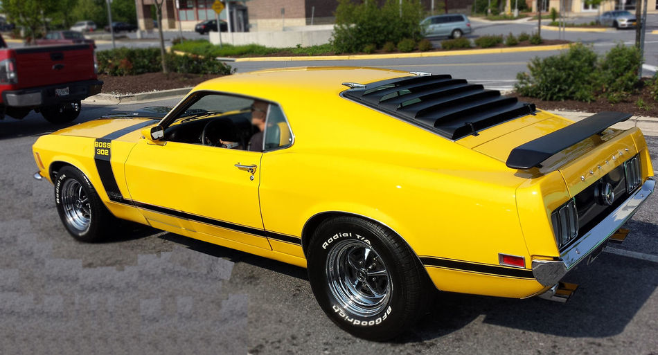 1969 Ford Mustang Boss 302 Boss 302 Mustang Ford Mustang Hot Rods Muscle Cars Restored Cars Vintage Cars. Yellow Mustang