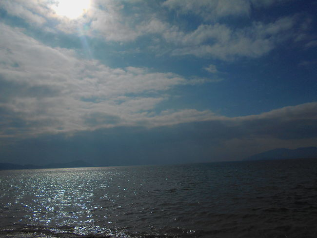 Beauty In Nature Calm Cloud Cloud - Sky Cloudy Day Horizon Over Water Idyllic Majestic Mountain Nature No People Non-urban Scene Outdoors Remote Rippled Scenics Sea Seascape Sky Tranquil Scene Tranquility Water Waterfront Weather
