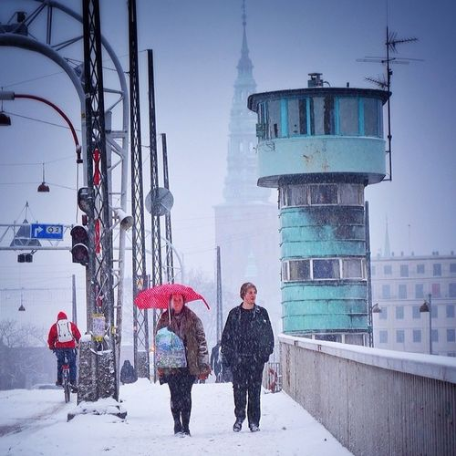 Another shot from cold #snowy #copenhagen. I would love to know what those green towers are for.. Anyone? ?❄️⛄️#denmark Copenhagen Denmark Snow Snowy Gf_daily Allshots_ Ic_cities Capture_today Mashpics From_city Igers_denmark