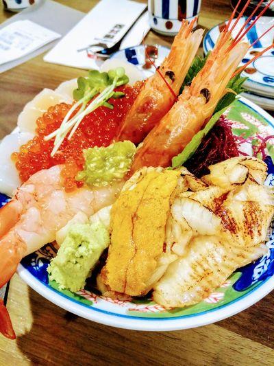 Sashimi Bowl Urchin Close-up Food And Drink Sushi Japanese Food Caviar Sashimi  Seafood
