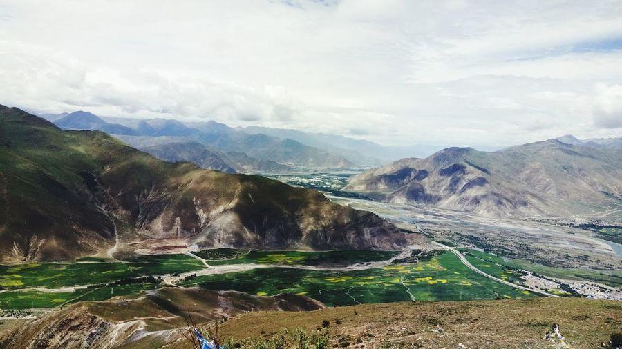 Gandan Monastery Water Rural Scene Rocky Mountains Winding Road Natural Landmark