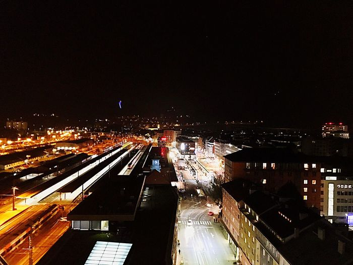 Innsbruck by Night Innsbruck Ibk  City City Life Austria Night Adlers Floor 12 Lights Trainstation