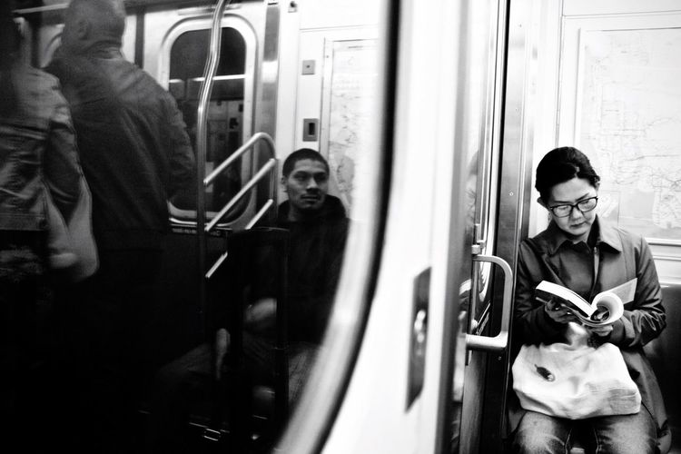 New York City Metro Real People Reading