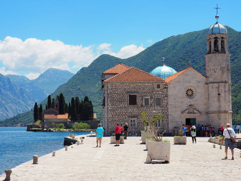 Nature And Architecture Our Lady Of The Rocks PERAST Architecture Beauty In Nature Island Place Of Worship Religion Spirituality Travel Destinations