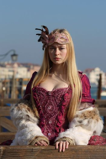 Mary My Daughter Girl Carnival Portrait Dress Young Women Young Adult Long Hair Beautiful Italy Venice Traveling
