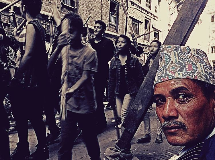Traveling Bhaktapur Gaijatra Nepal Culture Festival Festival Of The Dead Grumpy What Are YOU Looking At? Angry Ipadphotography