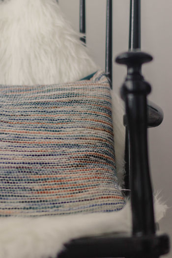 Chair Pillow Room Soft Close-up Cosy No People Pillow On Chair Selective Focus Textile