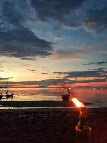 hidden treasure in Bali Sunset Beach Illuminated Astronomy Galaxy Sea Orange Color Sky Cloud - Sky Bonfire Flame Burning Candlelight Fire Lit Diya - Oil Lamp Summer Exploratorium