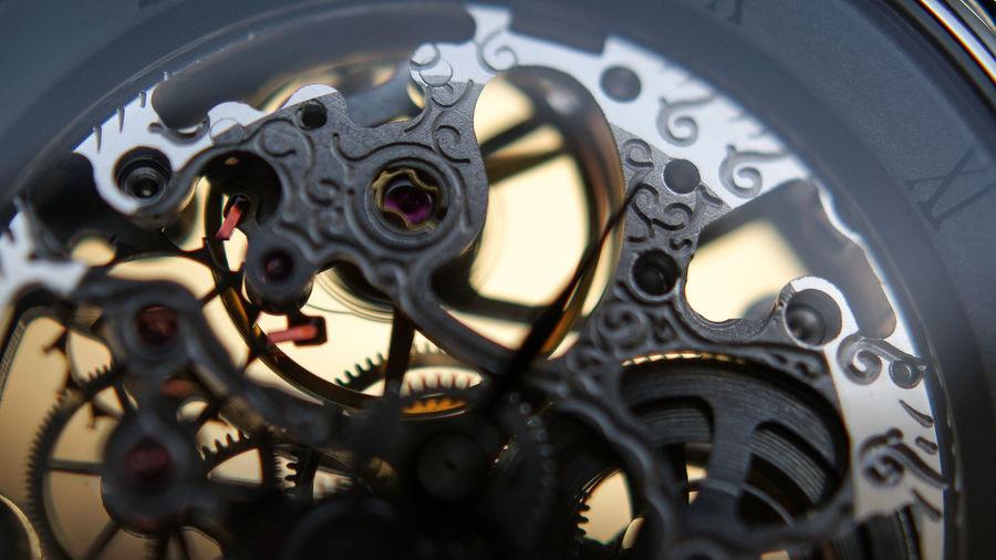 Close-up of clock gear