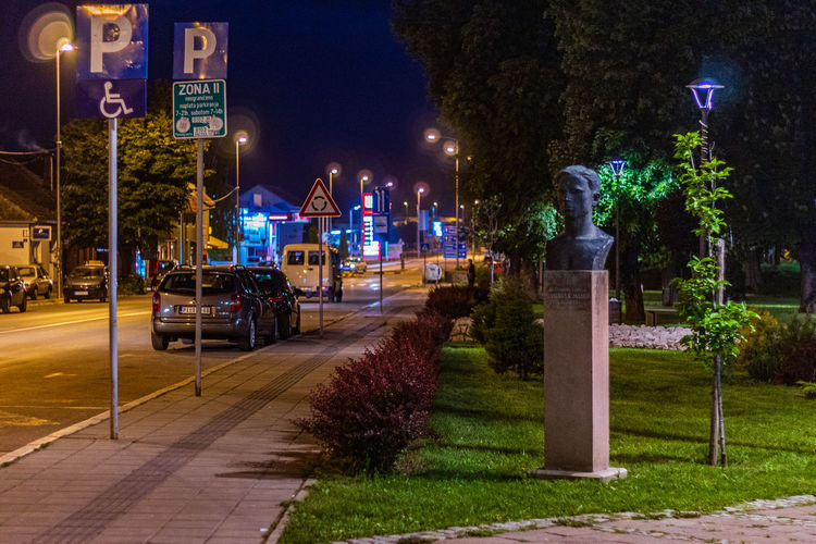 White bicycle Grass Night Pirot Art Street Street Photography Traffic City Lights Trees Statues Urban Road Statue Streets Urban Exploration Town Street Signs Cars Park Sculpture Serbia Serbian Sculptures Illuminated Plant Street Light Lighting Equipment Architecture Tree Building Exterior Nature Footpath Built Structure Mode Of Transportation Transportation No People Motor Vehicle Car Outdoors Motion Light The Street Photographer - 2019 EyeEm Awards