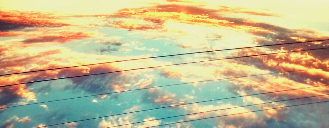 Sky Cloud - Sky Power Line  Cable Outdoors No People Sunset Nature Scenics Day Beauty In Nature Tranquility The Natural World Beauty The Great Outdoors - 2017 EyeEm Awards