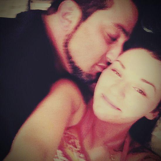 I love laying next to him <3 MyMan<3  Helovesme Cuddling Couple Cuteness Kissonthecheek