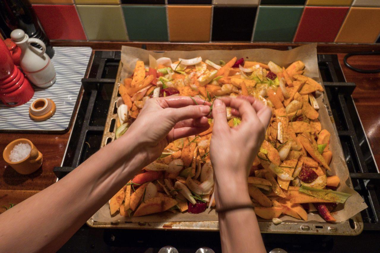 Female Hands Preparing Food