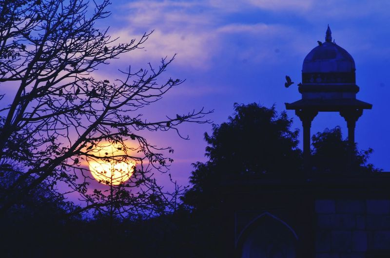 People And Places Delhi Humayun's Tomb Dusk Sky Blue Sky Fb.com/shobhitsinghfotography India