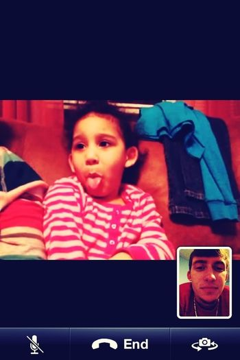 FaceTime with my angel!