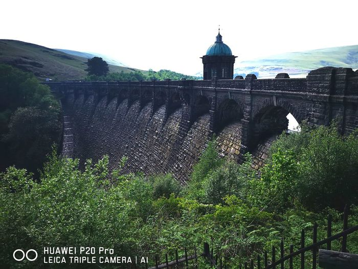 Elan Valley Mid Wales Water Sky Architecture Building Exterior Built Structure