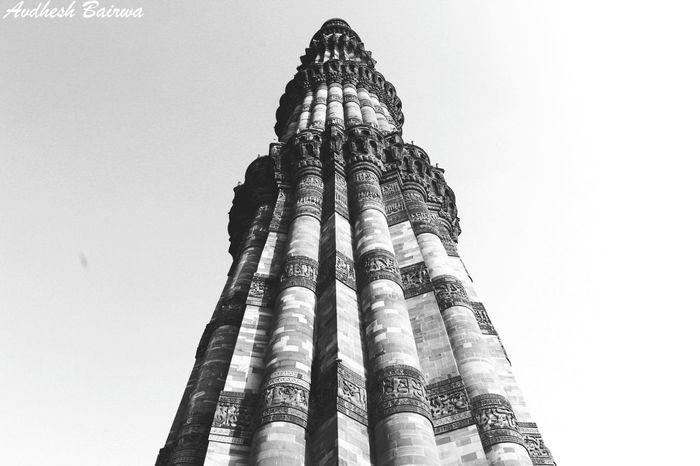 QutubMinar Delhi Blackandwhite Architecture Heritagebuilding Towers Delhidiaries Traveling First Eyeem Photo