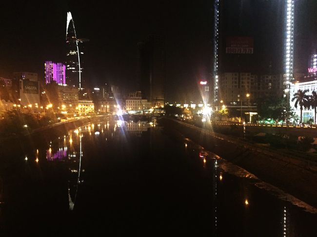 Illuminated Night Architecture Building Exterior Built Structure City No People Outdoors Electricity  Water Bitexco Hochiminhcity Saigon Riverside