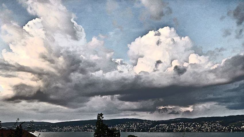 Art Beauty In Nature Cloud Cloud - Sky Cloudscape Cloudy Day Dramatic Sky Evening Sky Filter Lake Lake Of Zurich Lake View Nature Overcast Sky Skyline Switzerland Weather Zürichsee 16/9