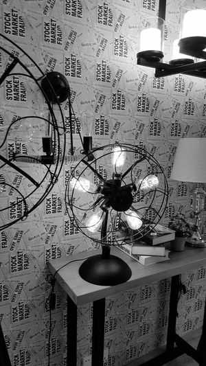 Light Up Your Life Light Interior Decorating Showpiece Eyeemphotography Bright Light Workmanship Architecture_collection Furnitures Concept Taking Photos Blackandwhite Photography Black & White Black And White Collection  Bulbphotography Bulbs Fan Table Fan Ironwork  Wallpaper Lightroom Lightbulb Lighting Equipment Samsung Galaxy S6 Edge S6 Edge Photography Black And White Friday
