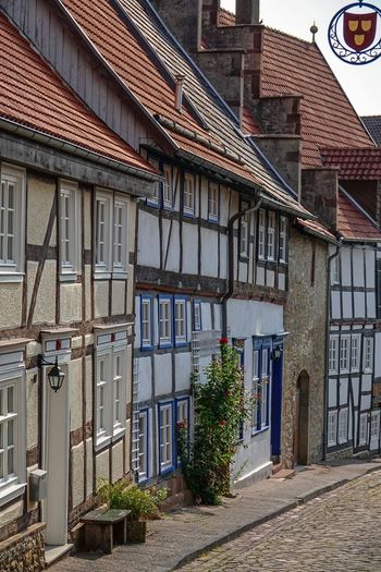 Fachwerkhäuser Pflasterstraße Architecture Building Building Exterior Built Structure City Day Door Entrance Footpath Growth House Nature No People Outdoors Plant Potted Plant Residential District Roof Row House Street Warburg Altstadt Window