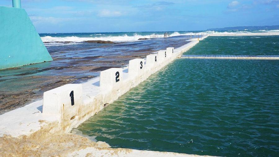 Newcastle Ocean Baths Ocean Baths Water Sea Beach Wave Idyllic Calm Scenics Horizon Over Water Coast Ocean